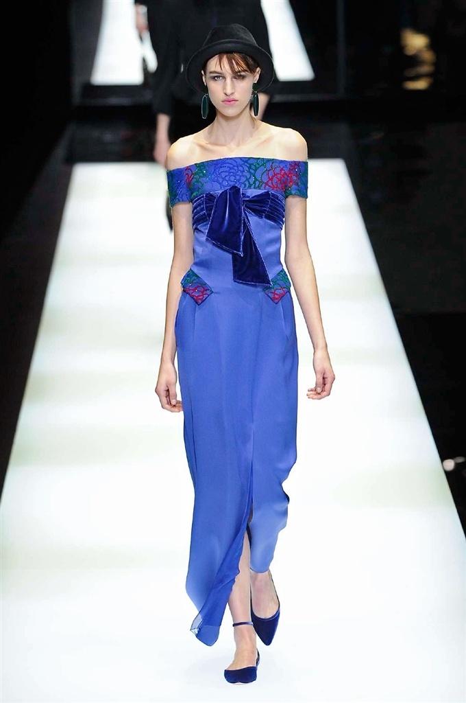 Vestito da sera blu Giorgio Armani