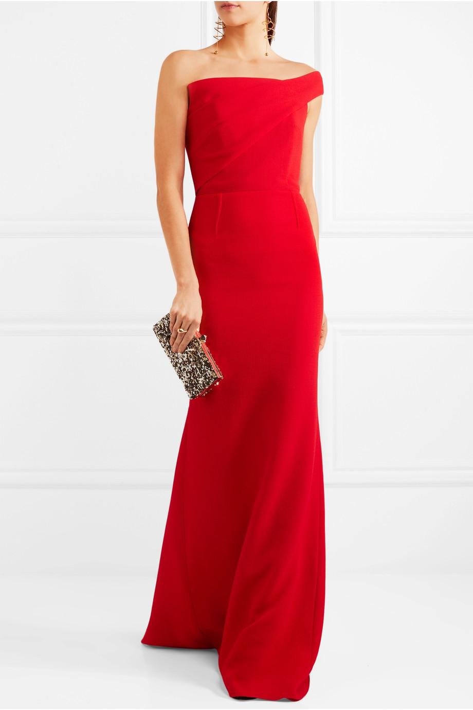 Vestito da sera lungo rosso Roland Mouret