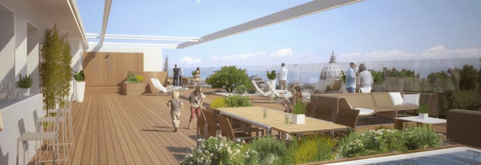 a roma il nuovo quartiere di lusso con vista su san pietro terrazza
