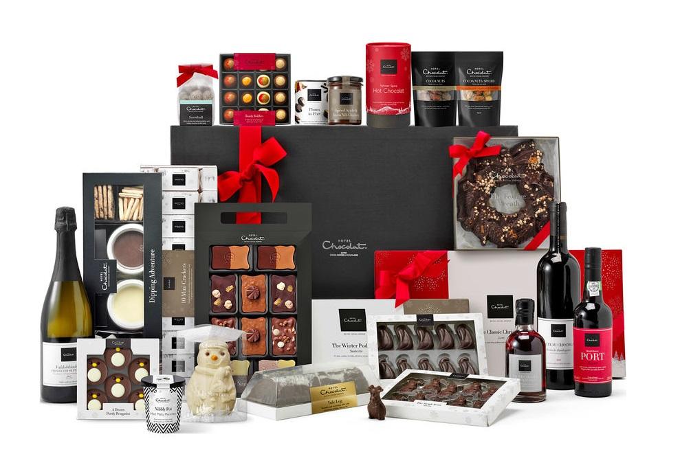 cesto natalizio hotel chocolate