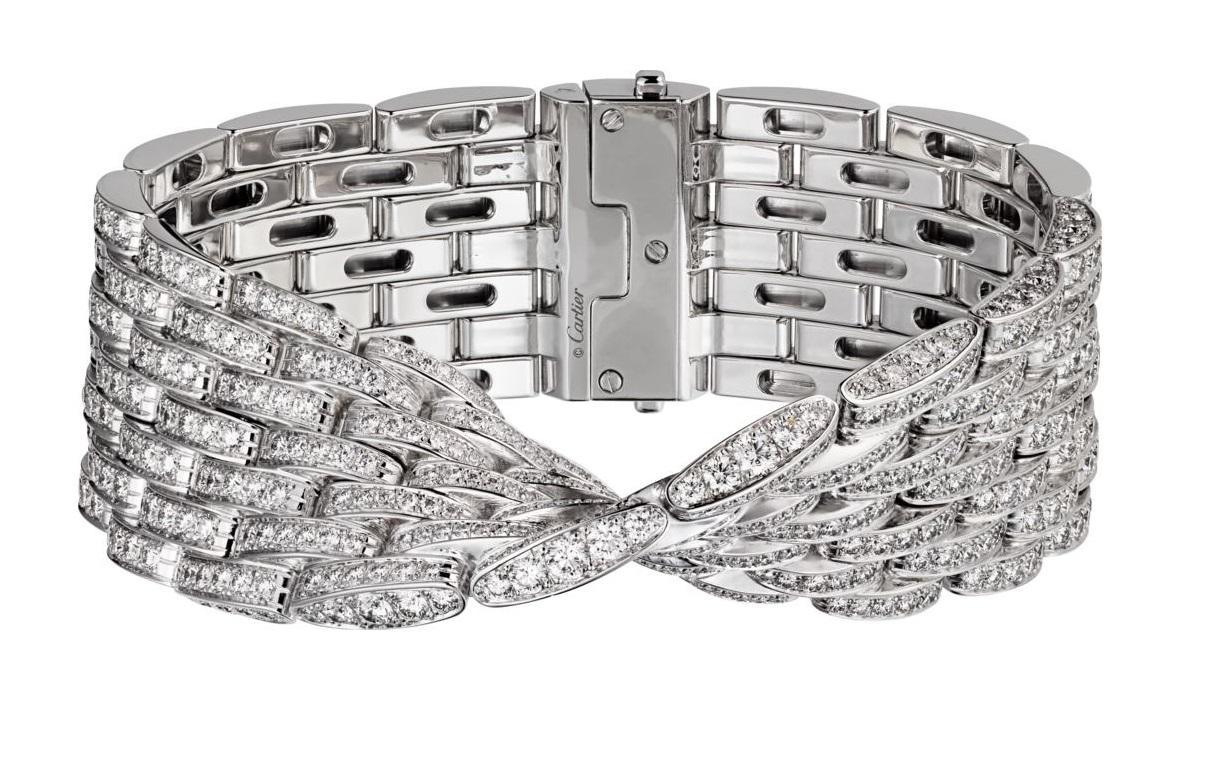Bracciale in oro bianco con diamanti gioielli Cartier