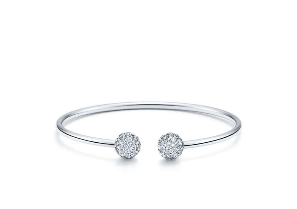 Bracciale in oro bianco con diamanti Tiffany