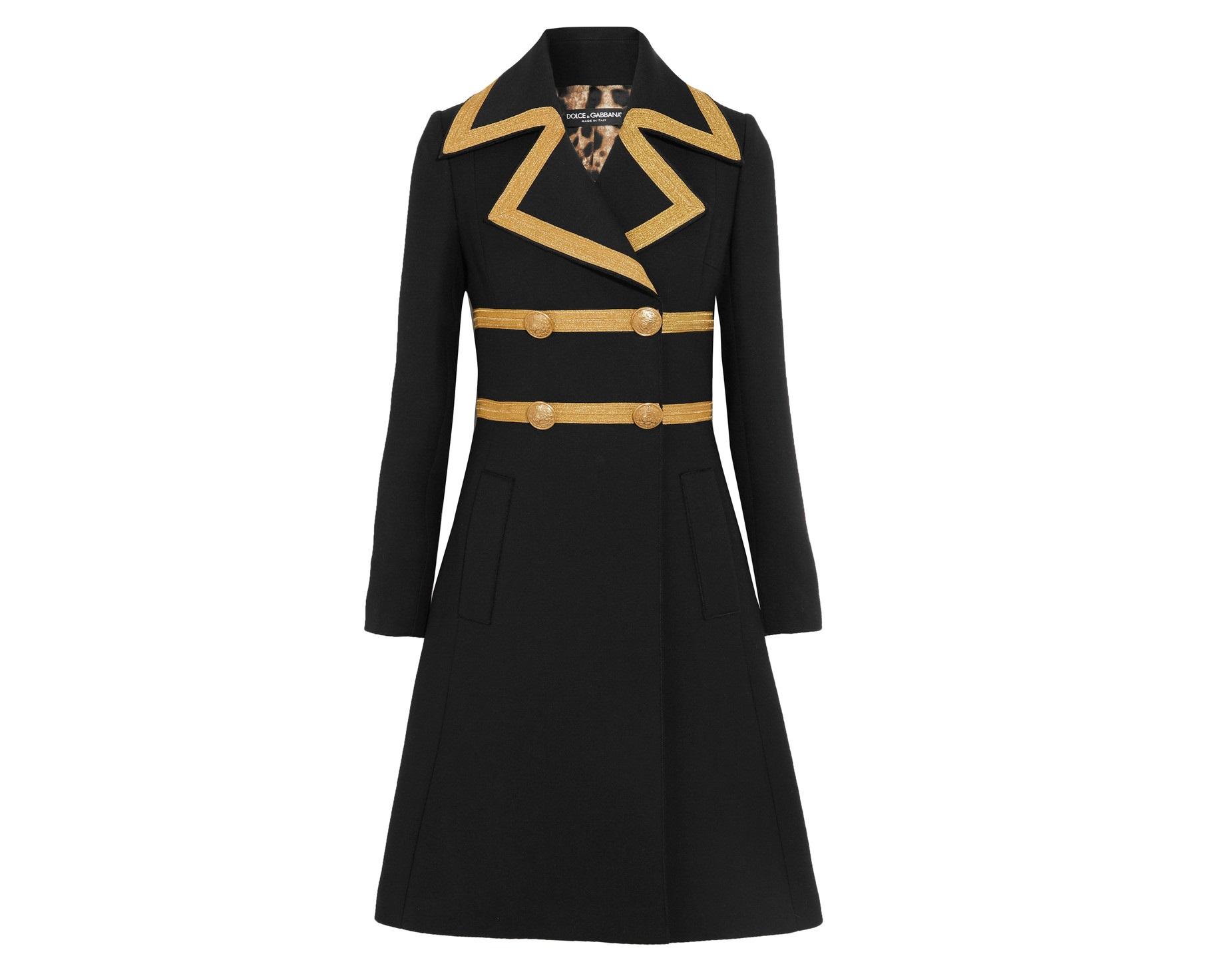 Cappotto elegante Dolce & Gabbana capodanno look