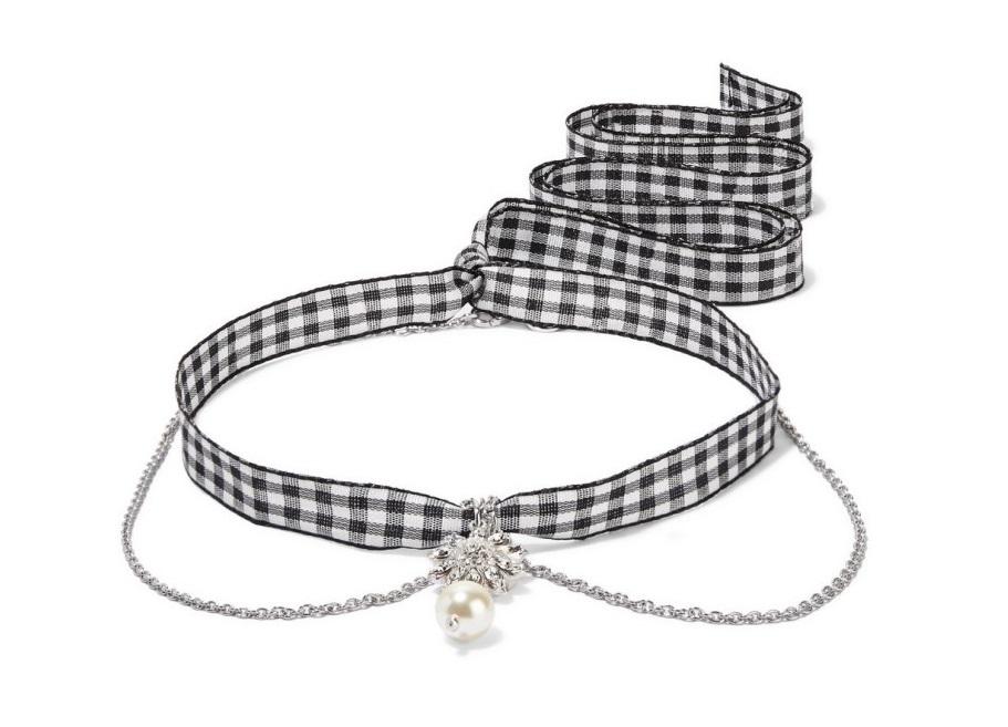 Collana Miu Miu in argento con perla collane 2018