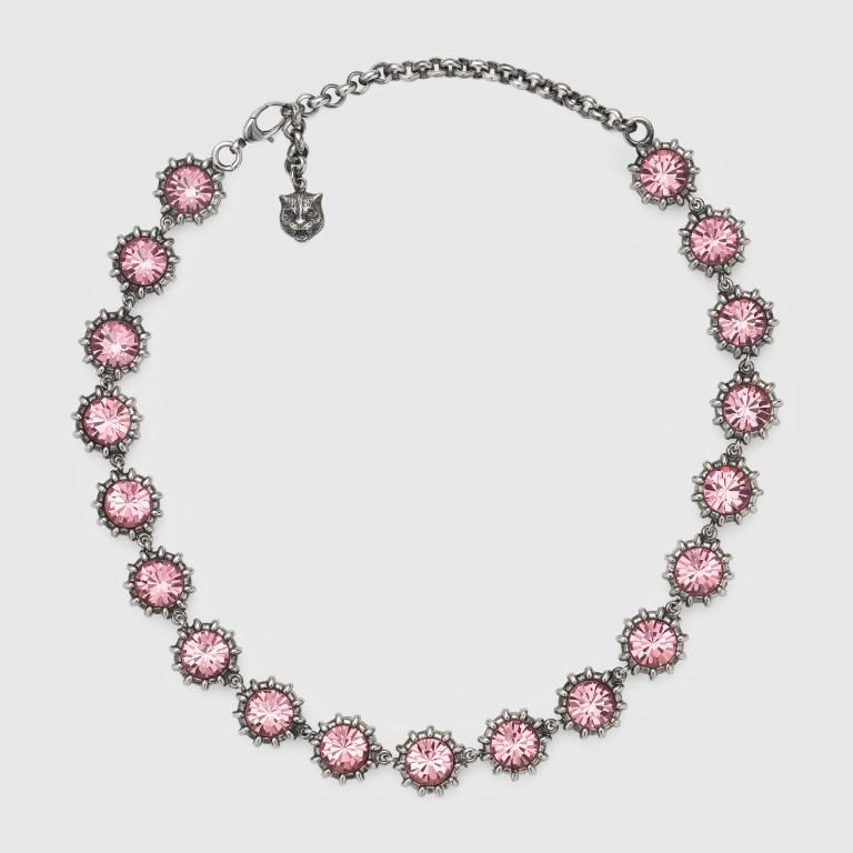 Collana con cristalli rosa Gucci collane 2018
