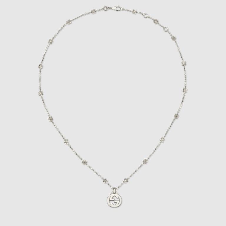 Collana in argento con ciondolo Gucci 2018