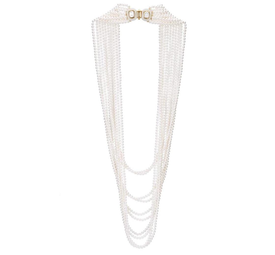 Collana lunga di perle Oscar De La Renta
