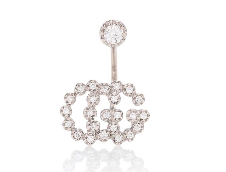 Orecchini con diamanti Gucci look capodanno