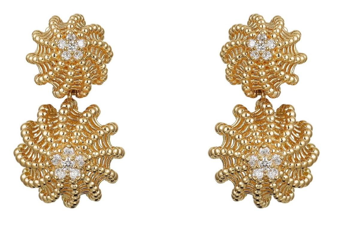 Orecchini in oro giallo con diamanti Cartier