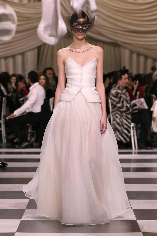 Abito da sposa Dior Paris Haute Couture gennaio 2018