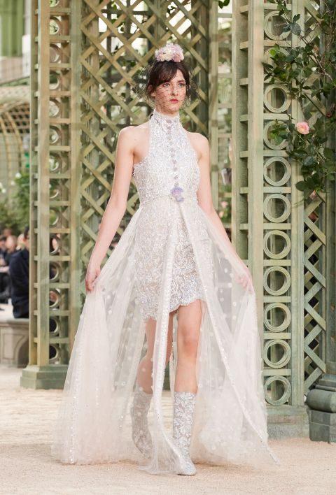 Abito da sposa asimmetrico Chanel haute couture primavera estate 2018