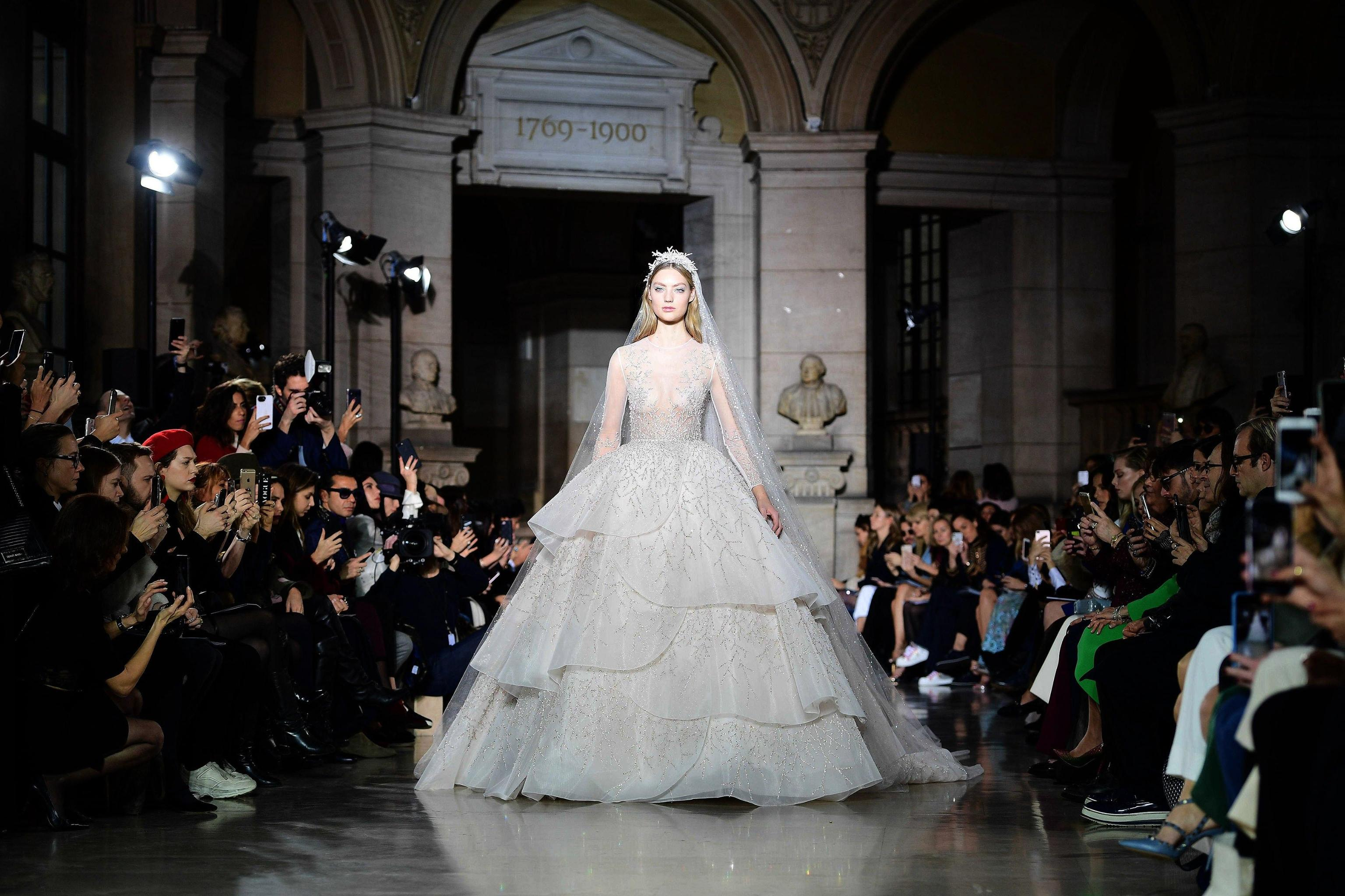 Abito da sposa ampio Georges Hobeika Paris Haute Couture gennaio 2018