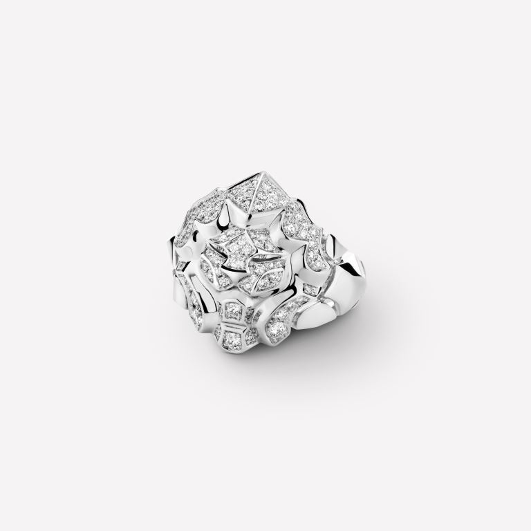 Anello Chanel Sous Le Signe Du Lion in oro bianco con diamanti 2018