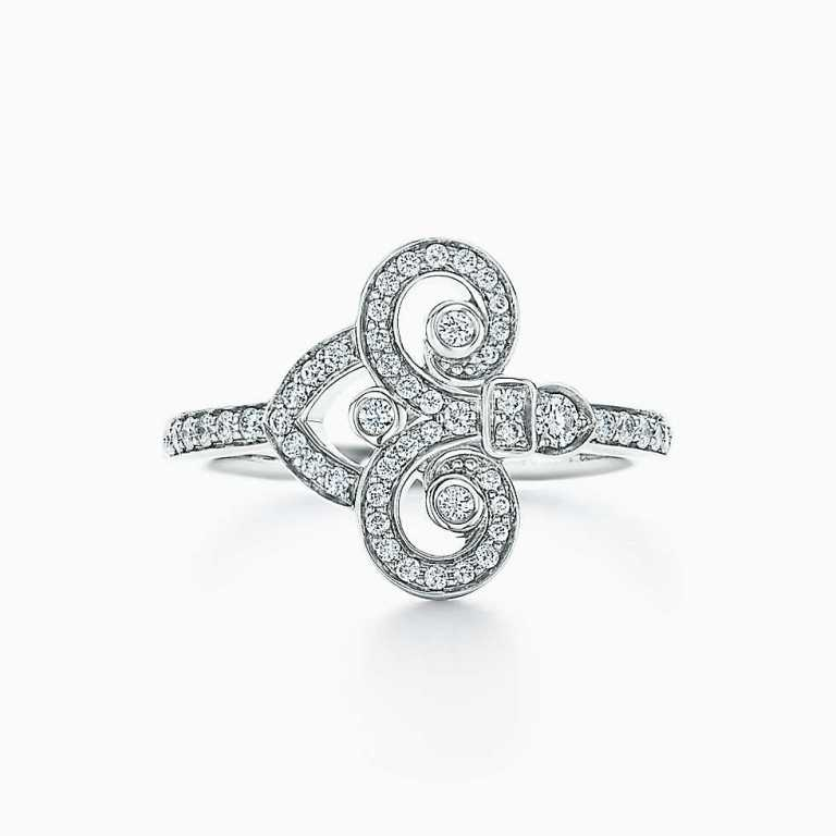 Anello di diamanti in platino Tiffany 2018