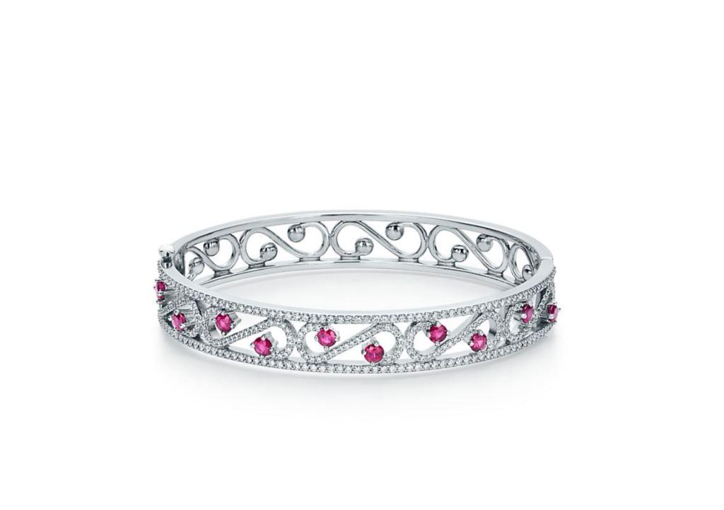 Bracciale Tiffany in platino con diamanti bracciali 2018