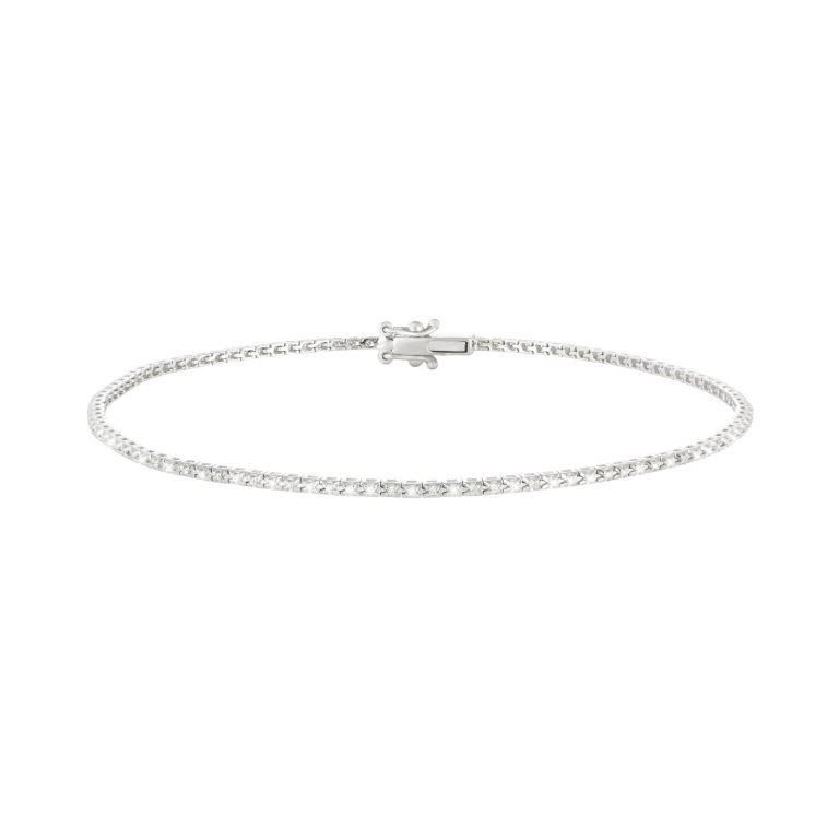Bracciale da tennis Stroili Oro in oro bianco 18 carati con diamanti