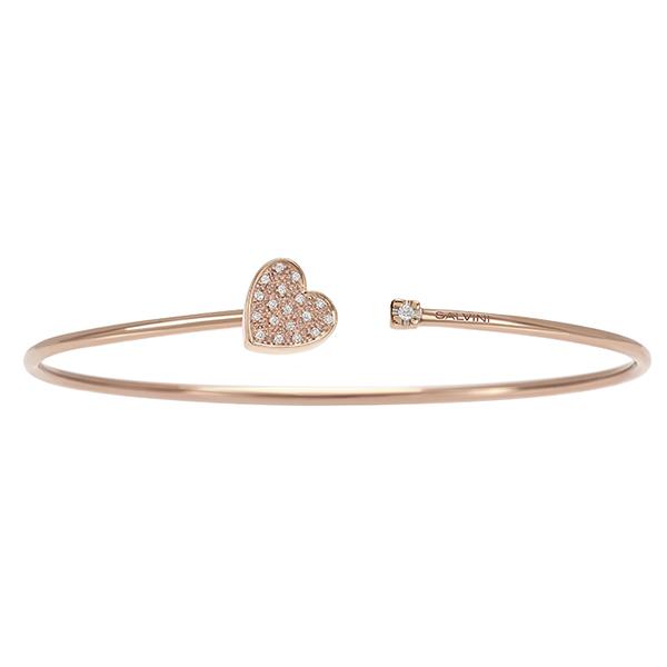 Bracciale in oro rosa con diamanti Salvini Gioielli 2018