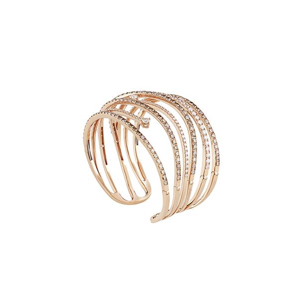 Bracciale in oro rosa con diamanti Constellations Materpiece Salvini Gioielli