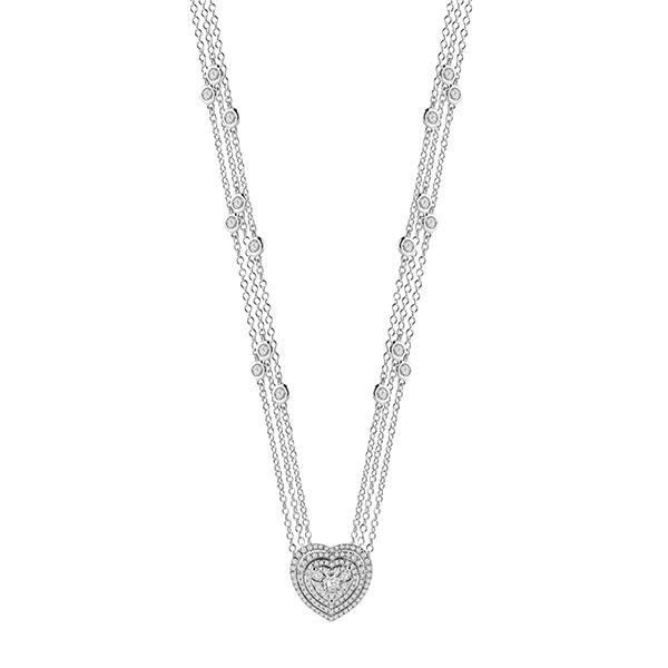 Collana Salvini Gioielli in oro bianco con diamanti da 1,2 carati collezione 2018