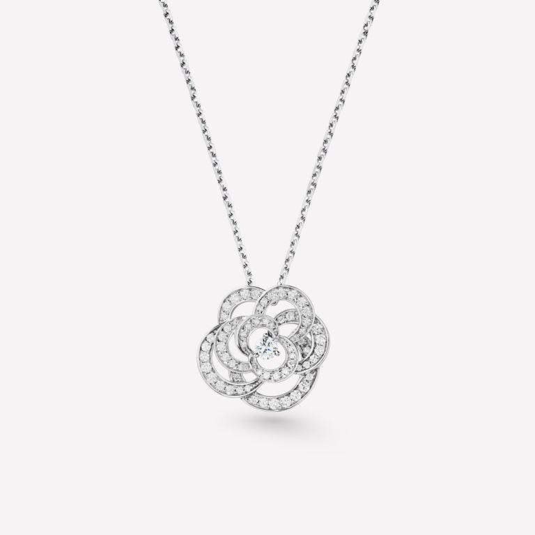 Collana in oro bianco con diamanti Chanel regali san valentino per lei