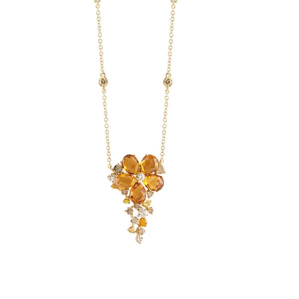 Collier in oro giallo e bianco con diamanti Salvini Gioielli 2018