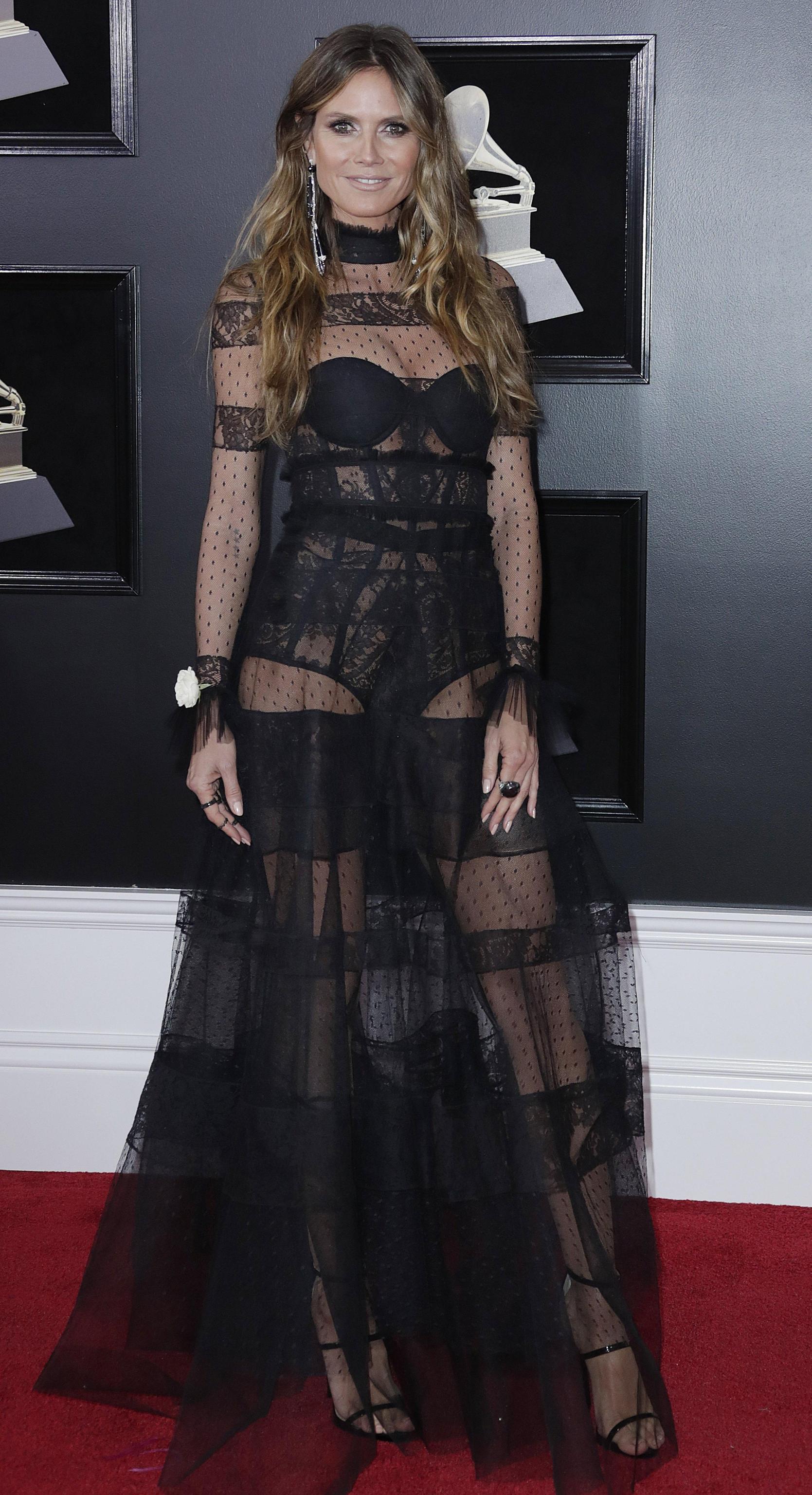 Heidi Klum veste ASHI ai Grammy Awards 2018