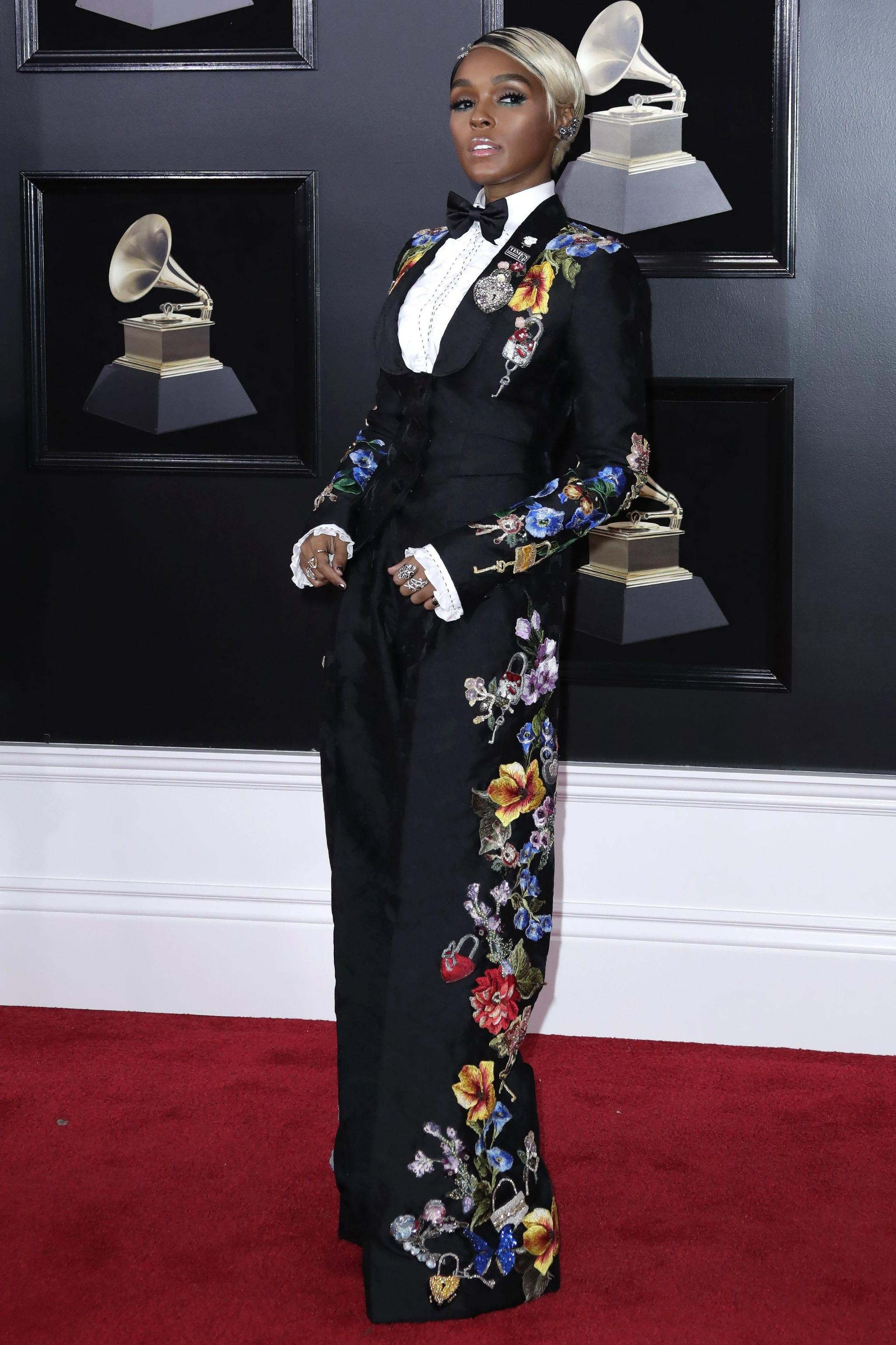 Janelle Monae in Dolce & Gabbana Grammy Awards 2018