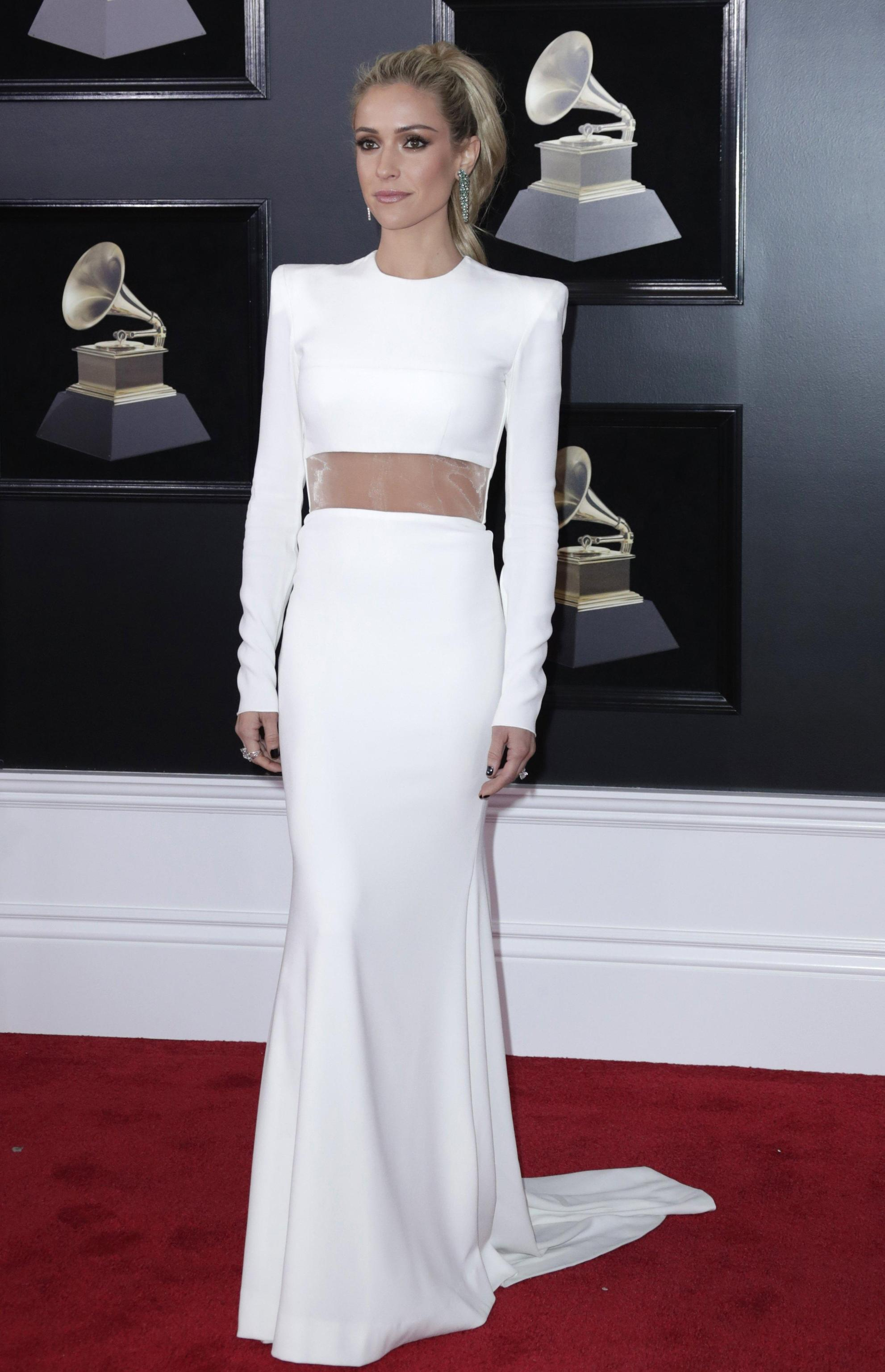 Kristin Cavallari in Alex Perry ai Grammy Awards 2018