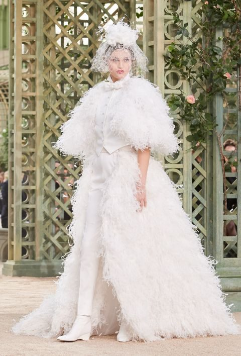 Look da sposa Chanel haute couture primavera estate 2018
