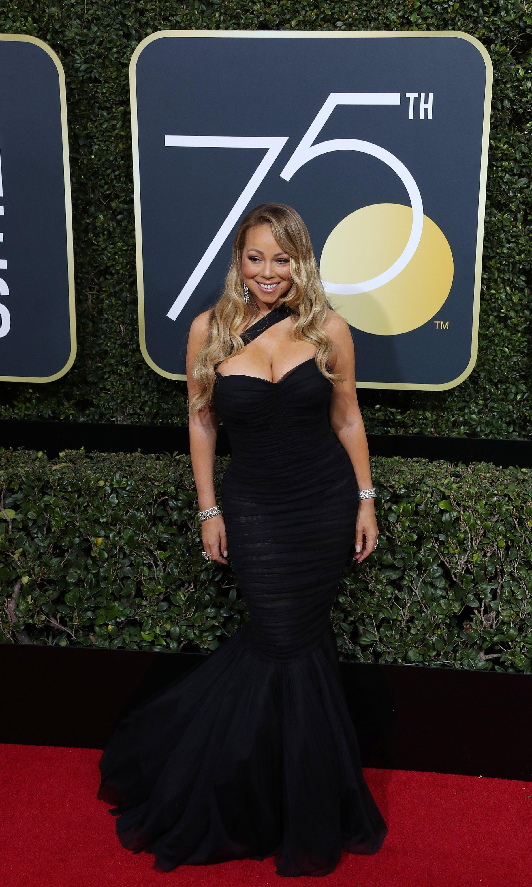 Mariah Carey in Dolce & Gabbana ai Golden Globe 2018