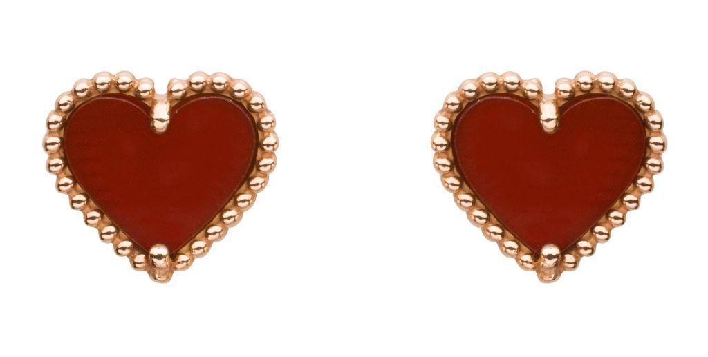 Orecchini Van Cleef & Arpels in oro rosa san valentino 2018