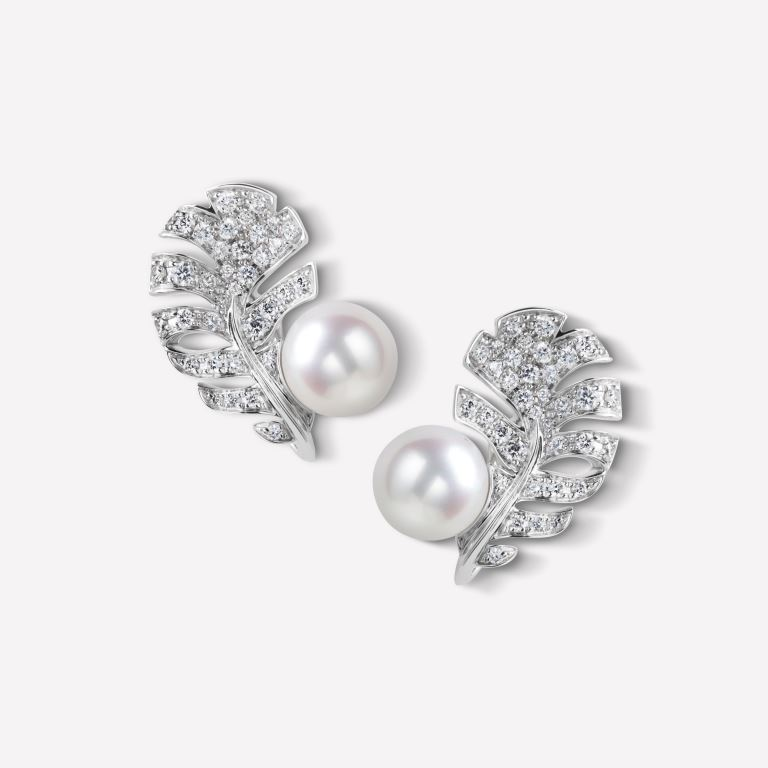 Orecchini con perle e diamanti Chanel 2018