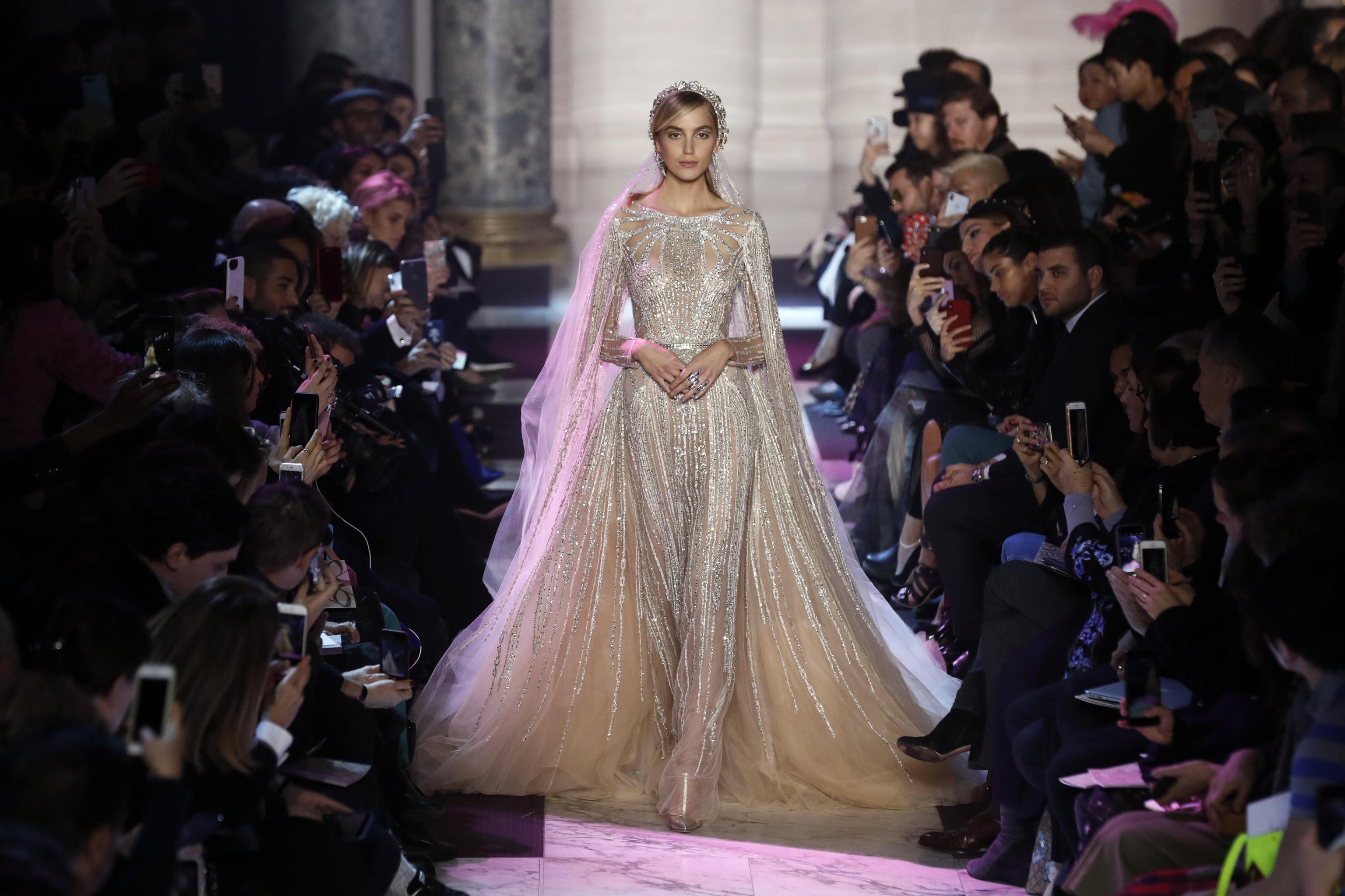 Abito da sposa gioiello Elie Saab haute couture primavera estate 2018