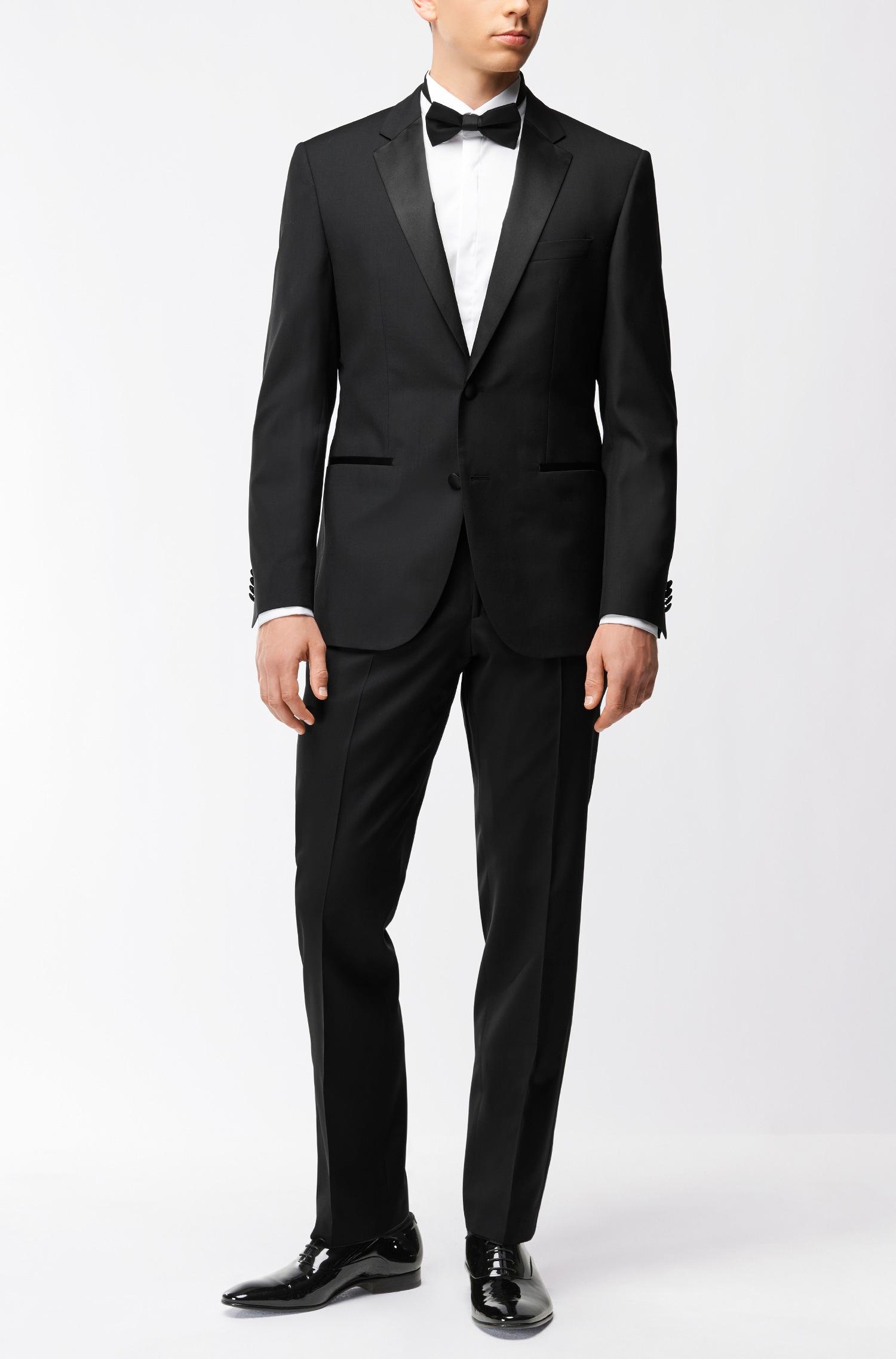 Abito da sposo Hugo Boss regular fit in lana vergine con dettagli in seta