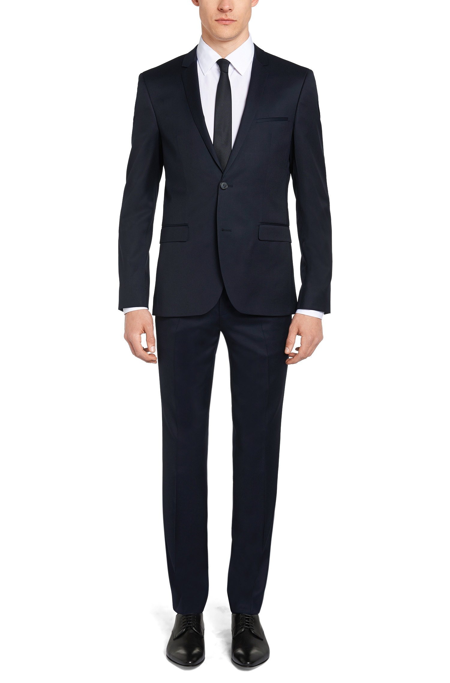Abito extra slim fit Hugo Boss con giacca a due bottoni blu