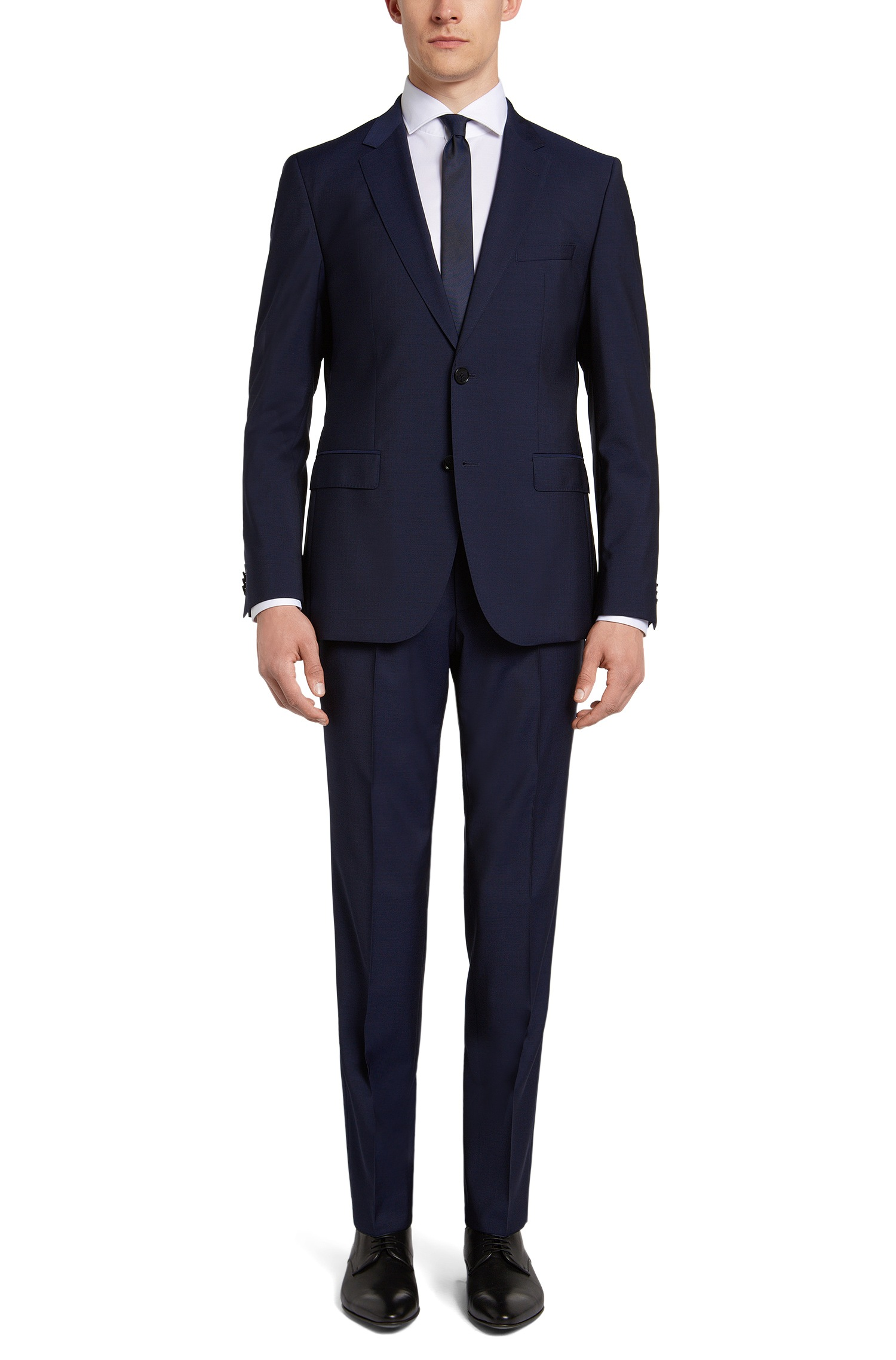 Abito uomo elegante Hugo Boss blu regular fit in lana vergine