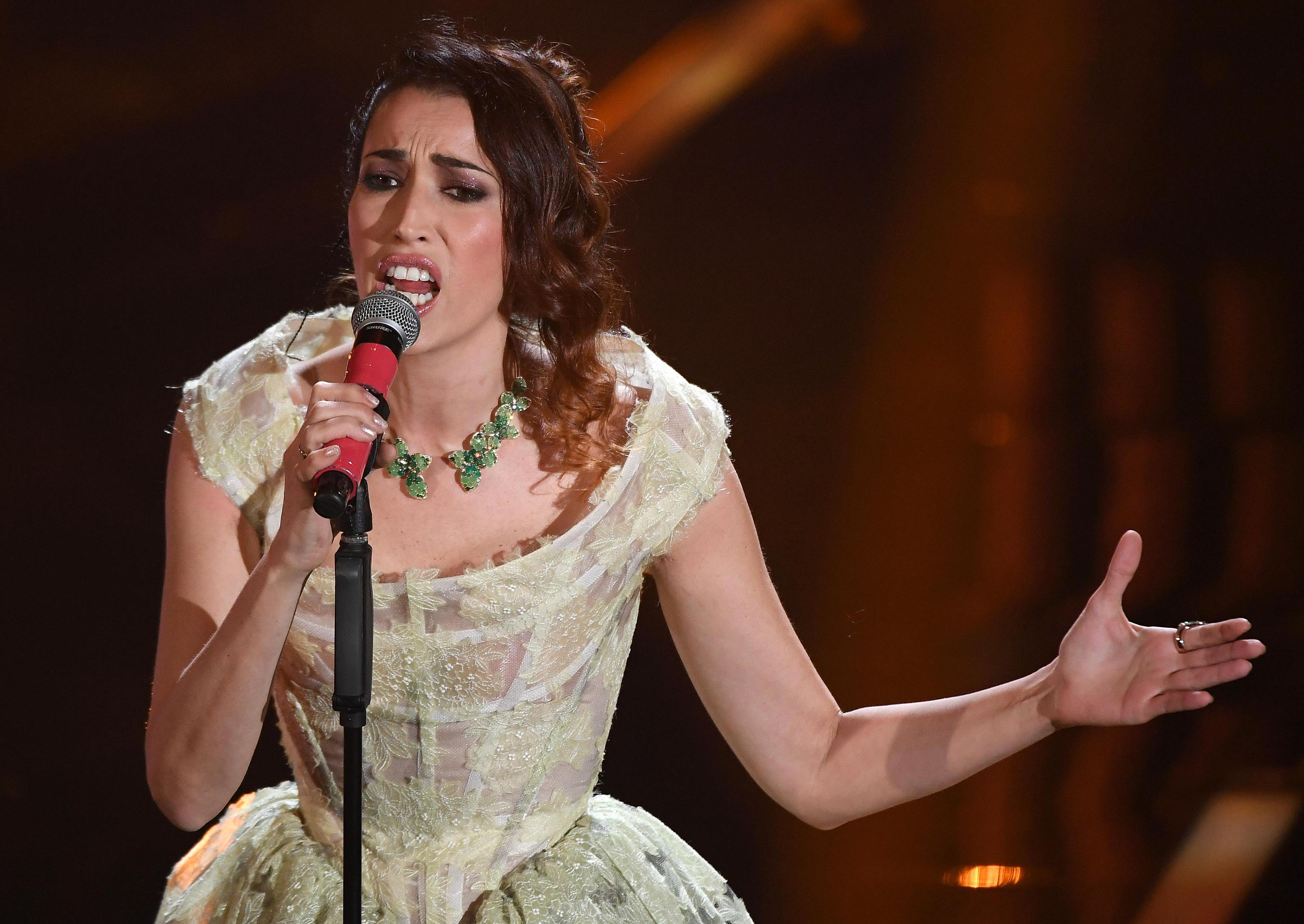 Nina Zilli con gioielli Pasquale Bruni per la finale