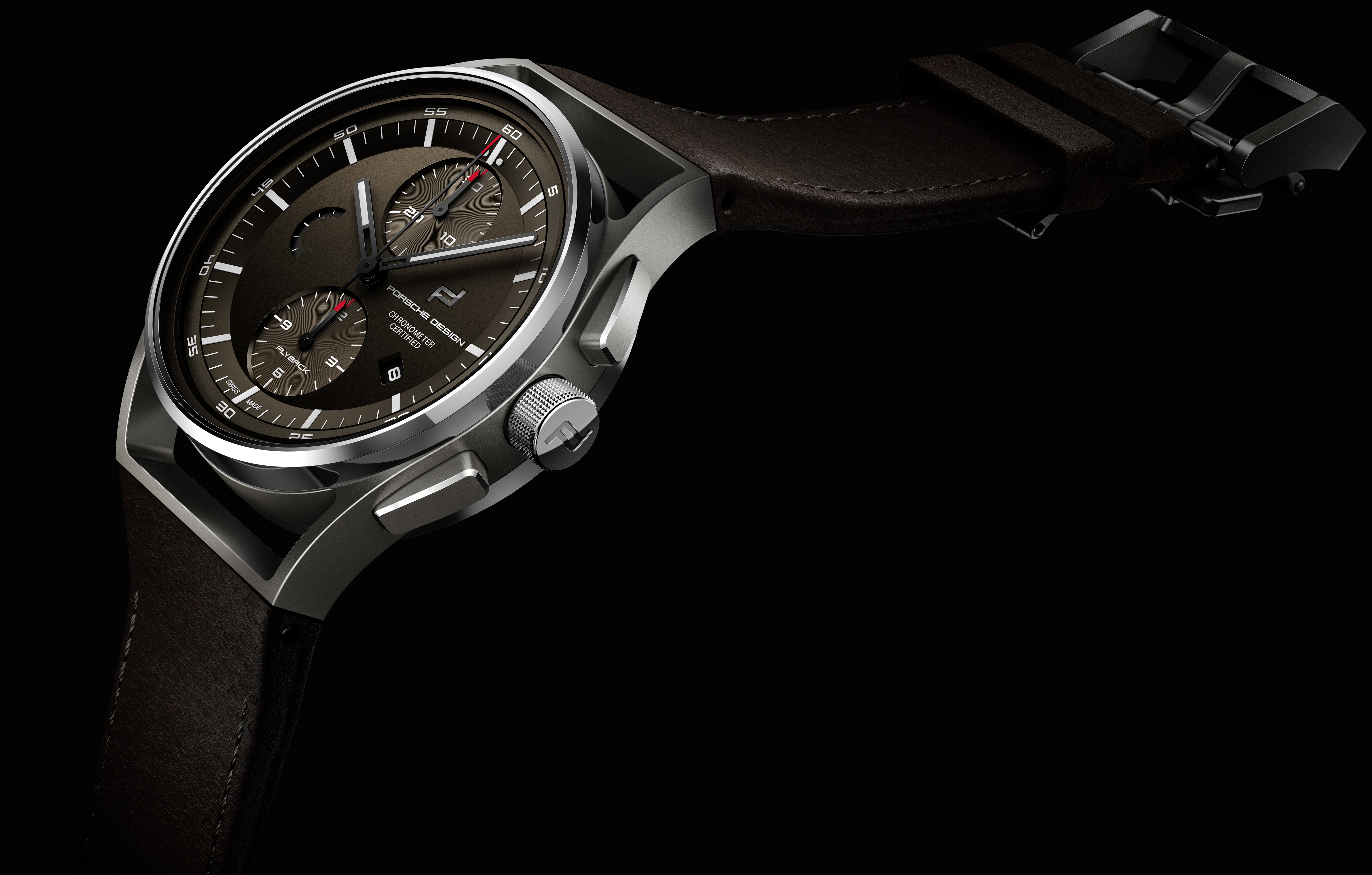 PORSCHE DESIGN 1919 Chronotimer Flyback Brown