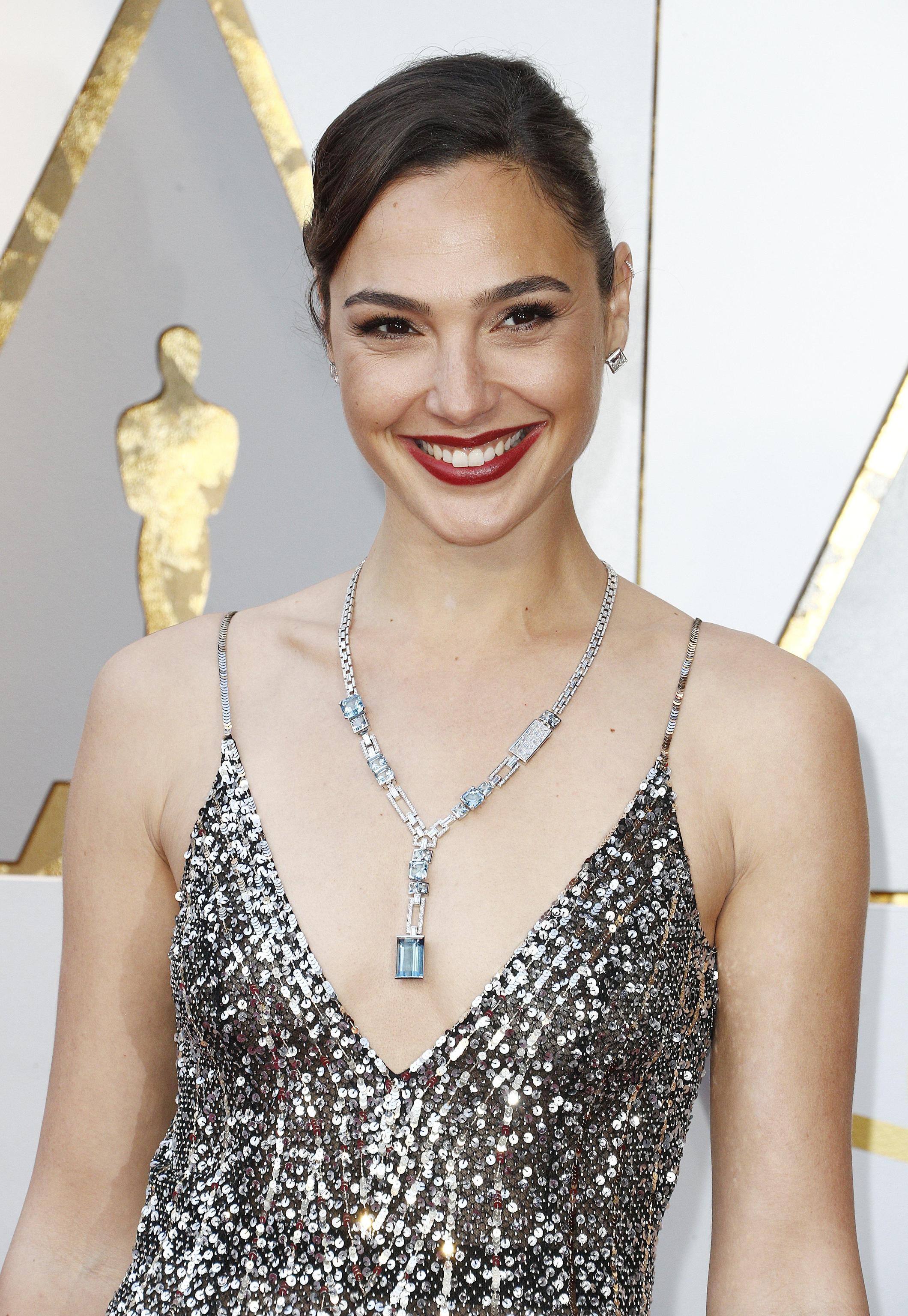 Gal Gadot con gioielli Tiffany & Co.