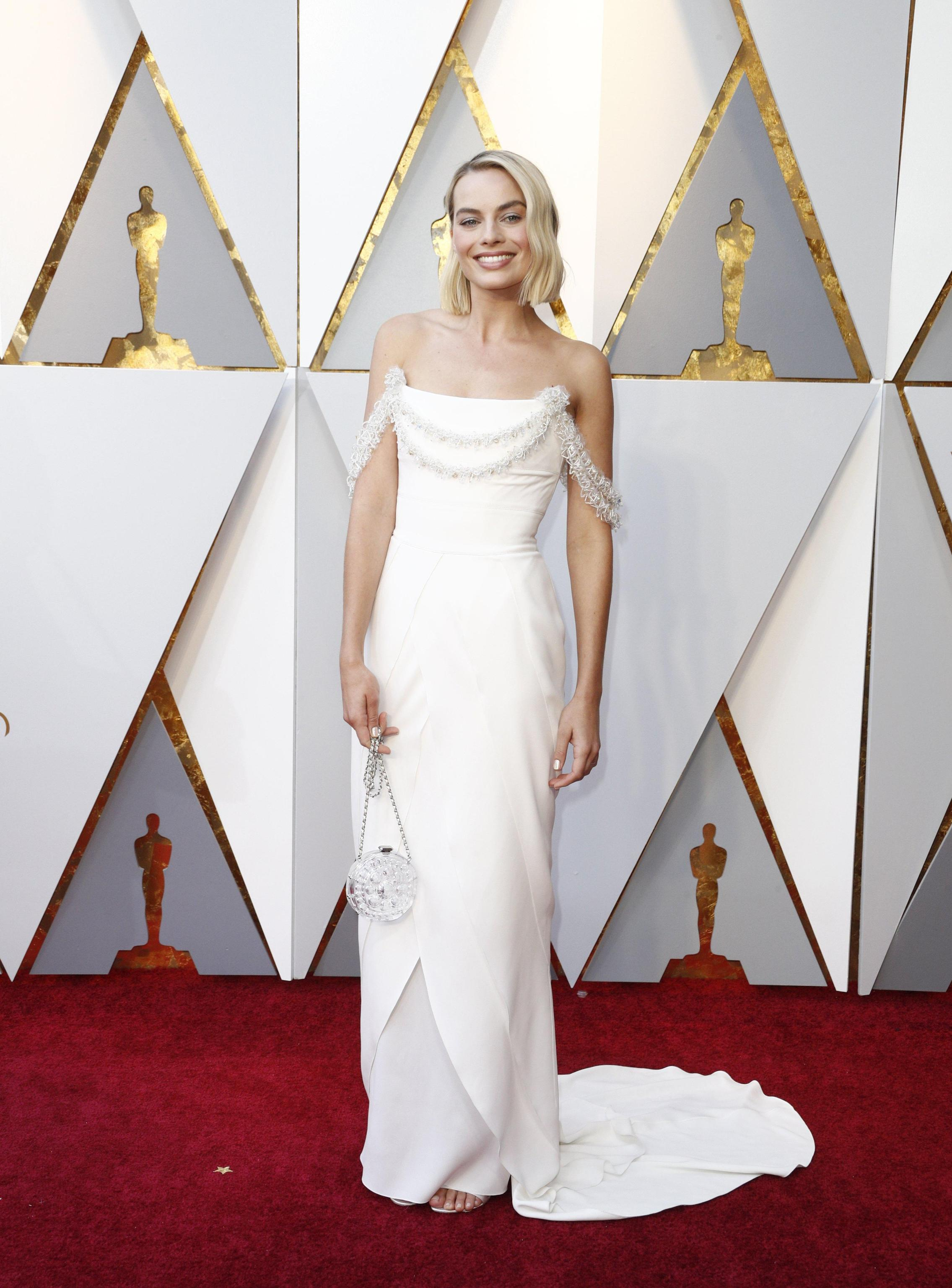 Margot Robbie in Chanel Haute Couture agli Oscar 2018