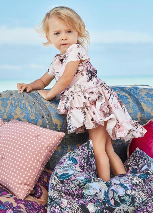 Abito rosa da bambina Roberto Cavalli Junior