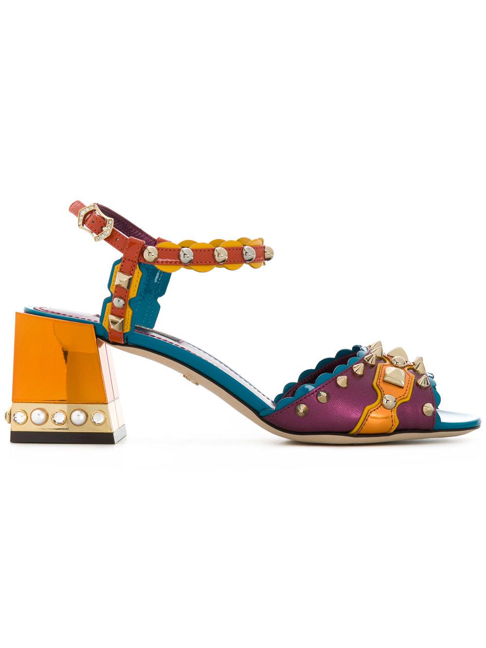 Sandali bassi decorati Dolce & Gabbana