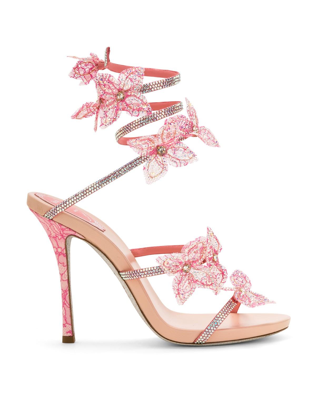 Sandali gioiello a fiori Renè Caovilla