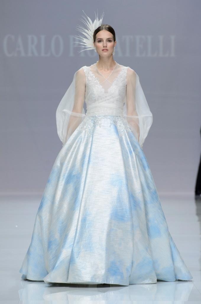 Abito da sposa da principessa colorato Carlo Pignatelli