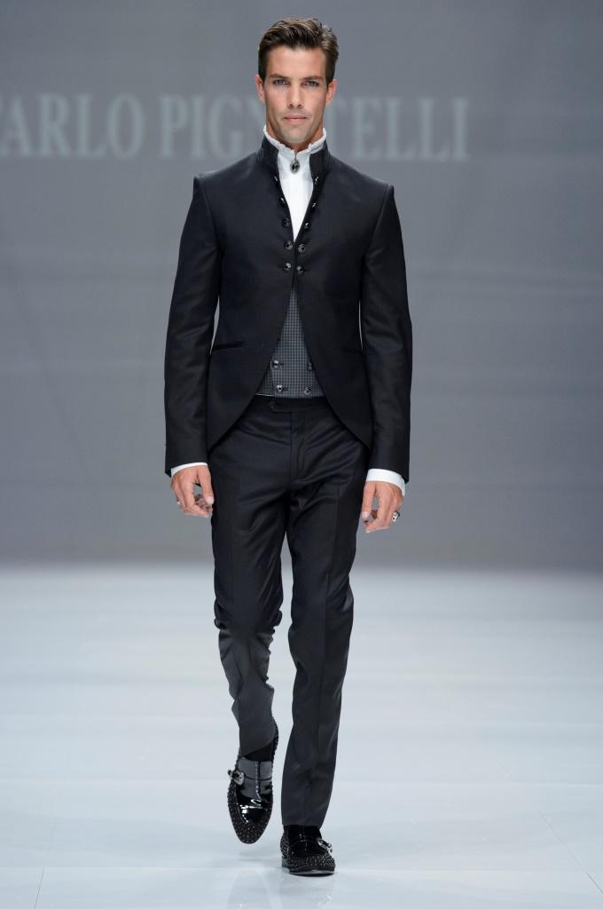 Carlo Pignatelli, abito da cerimonia da uomo con giacca corta