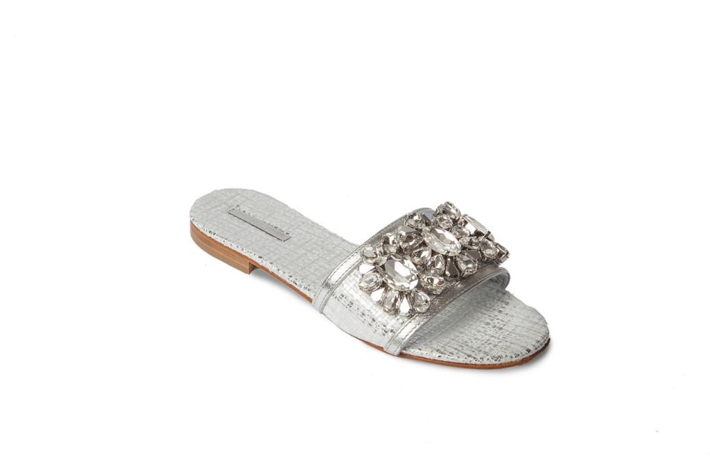 Sandali gioiello bassi argento Emanuela Caruso Capri