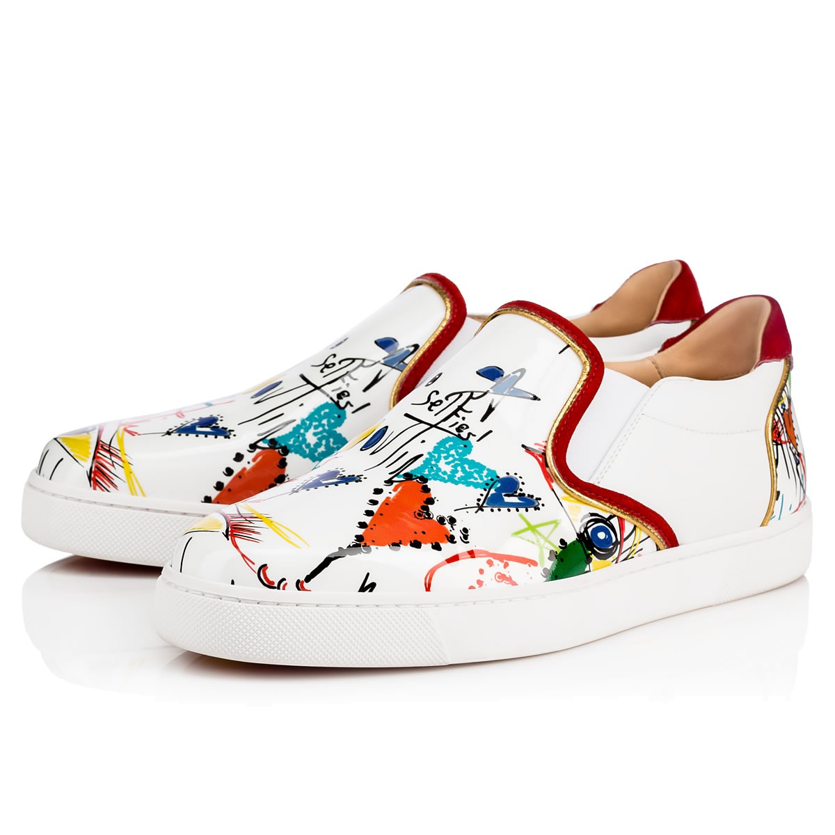 Slip on sneakers stampate Christian Louboutin