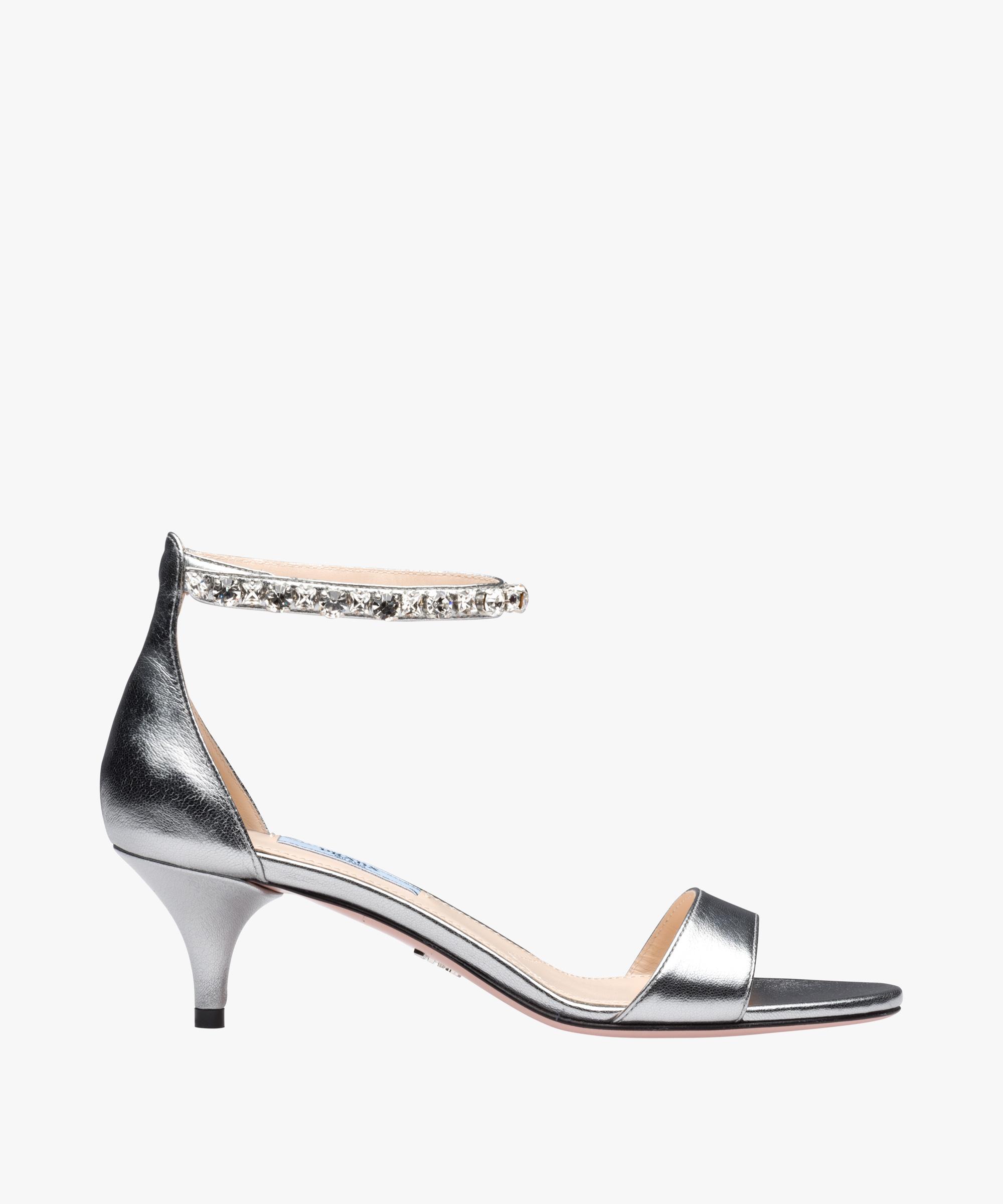 Sandali gioiello argento Prada estate 2018