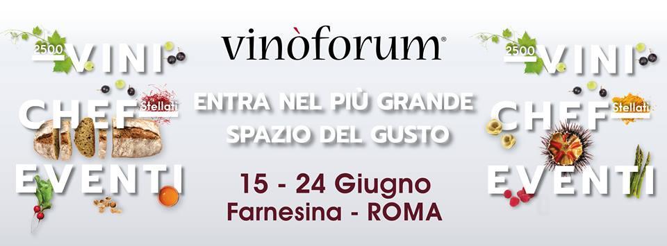 eventi enogastronomici estate 2018 vinoforum a roma