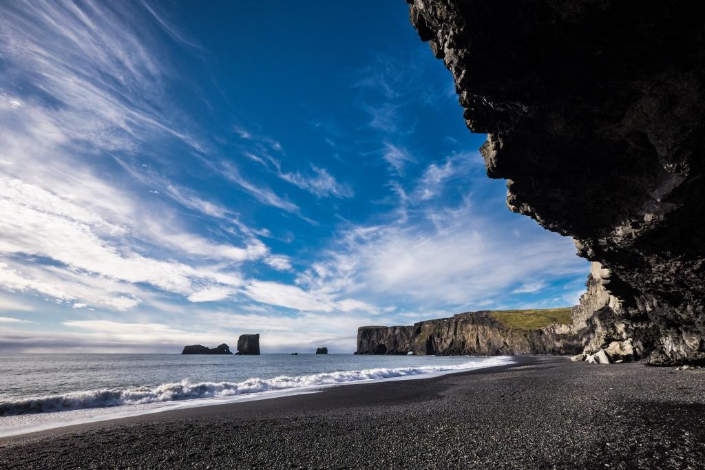 spiagge nere in italia europa spiaggia di vik